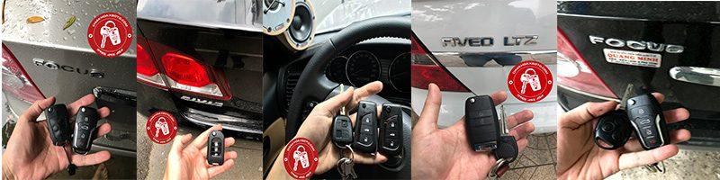 Làm chìa khóa ô tô liền điều khiển từ xa