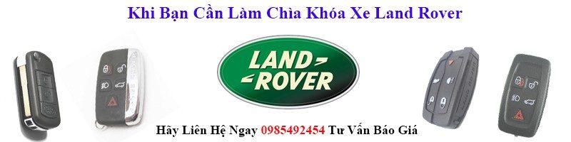 làm chìa khóa xe land rover