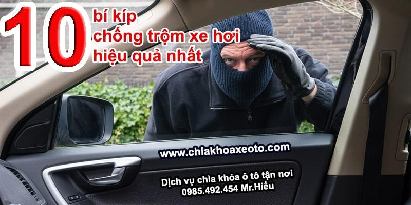 10 bi kip chong trom xe hoi hieu qua nhat-chiakhoaxeoto