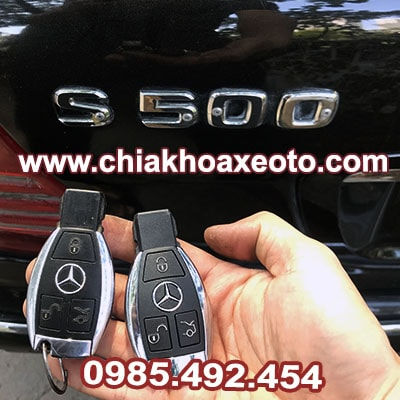 chia khoa remote mercedes s class S500-chiakhoaxeoto