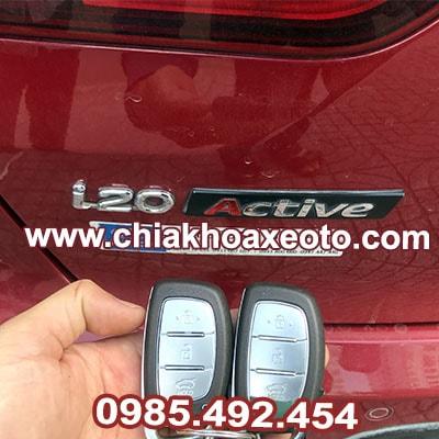 Chìa khóa thông minh Hyundai i20 tại hcm